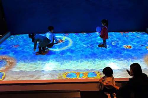 relaxing interactive projection floor Enhance confidence for square-12