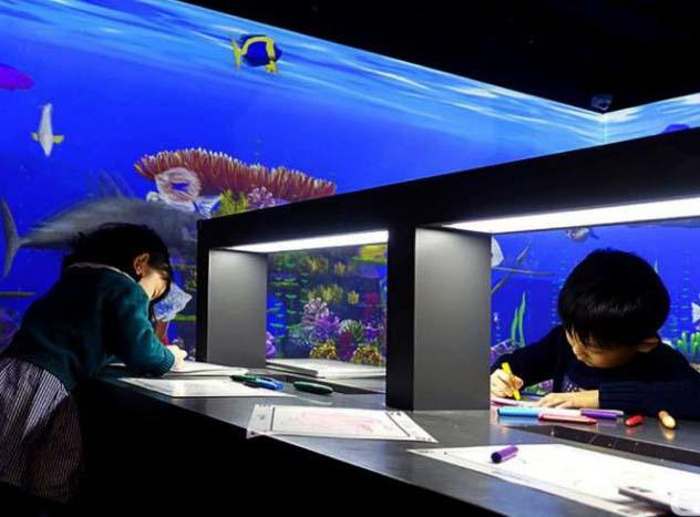 Fuhua interactive 3d projection mapping for kids for museum