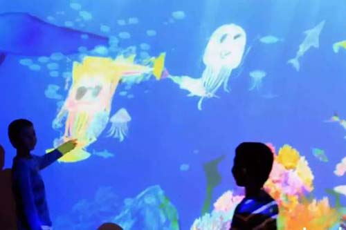 Fuhua interactive 3d projection mapping for kids for museum-22
