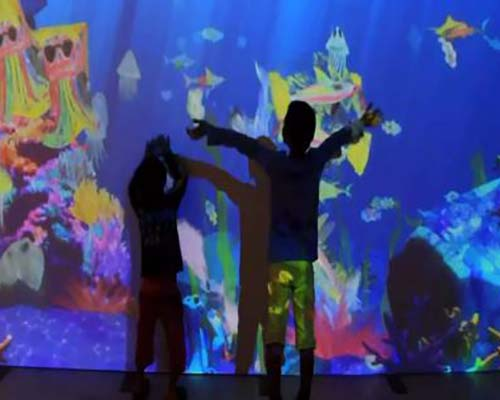 Fuhua interactive 3d projection mapping for kids for museum-26