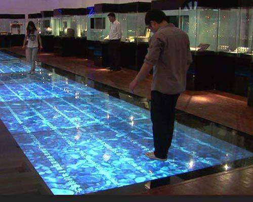 relaxing interactive projection floor Enhance confidence for square-28