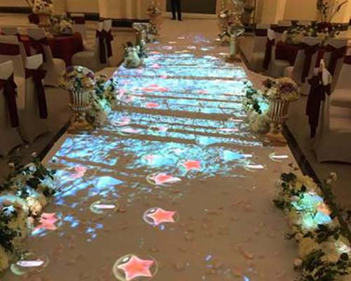 relaxing interactive projection floor Enhance confidence for square-30