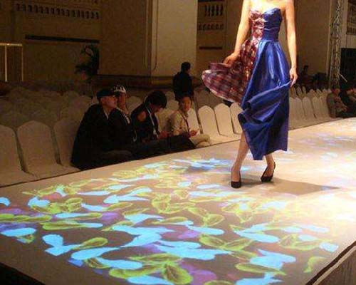 relaxing interactive projection floor Enhance confidence for square-32