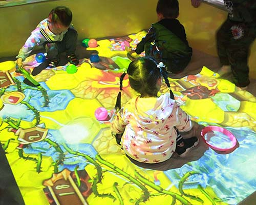 relaxing interactive projection floor Enhance confidence for square-36