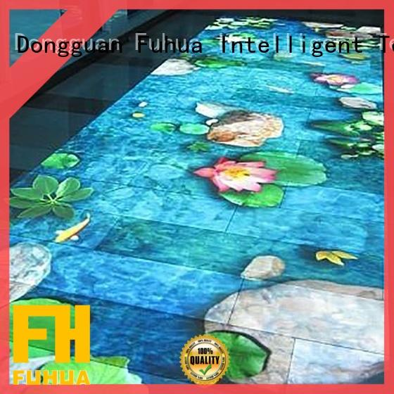 wall interactive projection Multiplayer mall Fuhua
