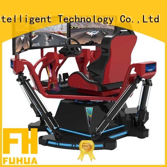 international racing car simulator screen for park