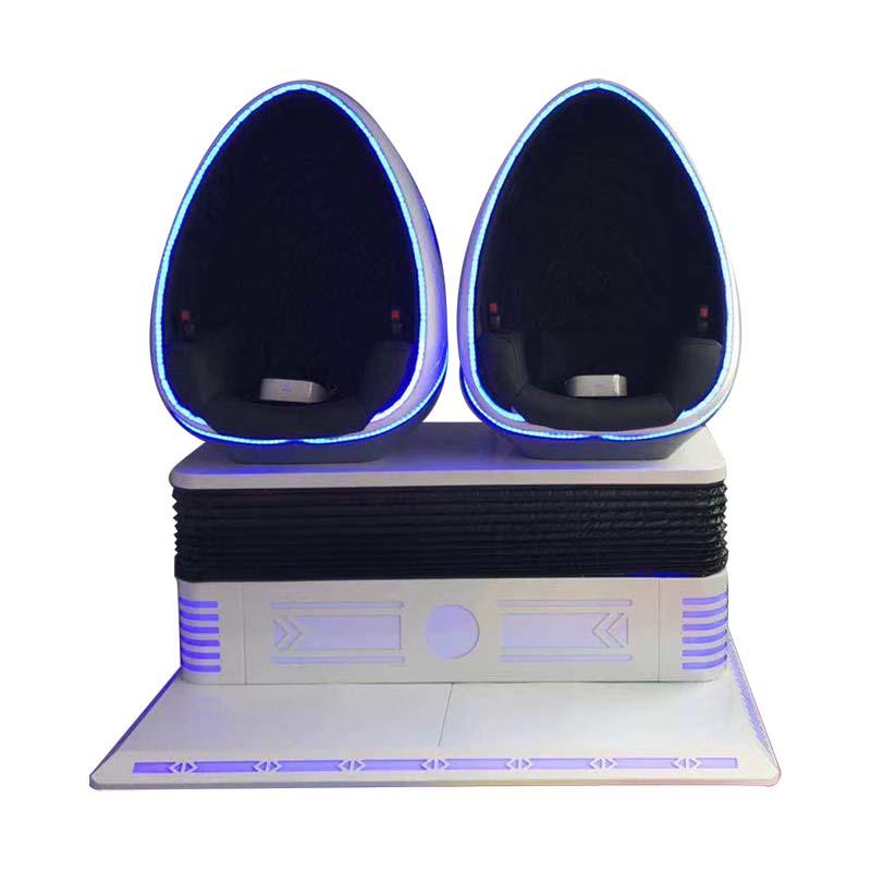 Amusement VR Theme Park 9D Virtual Egg Cinema Simulator For Sale