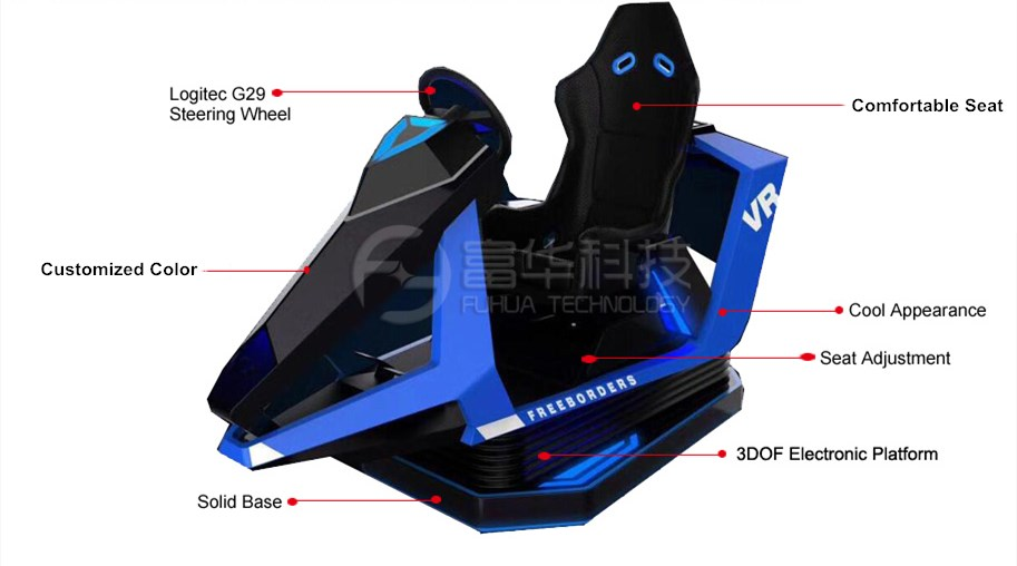 Fuhua racing vr racing simulator engines for amusement-2