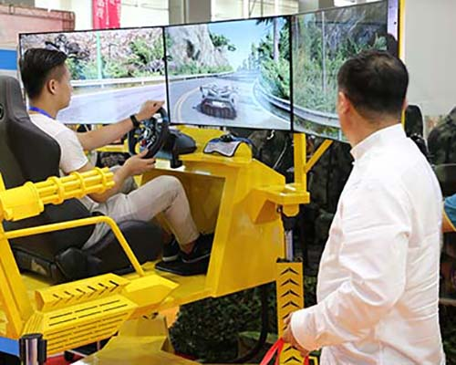 Fuhua screen vr racing car dynamic control technology for theme park-6