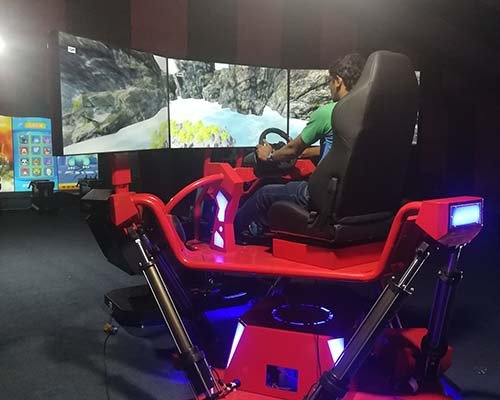 Fuhua screen vr racing car dynamic control technology for theme park-8