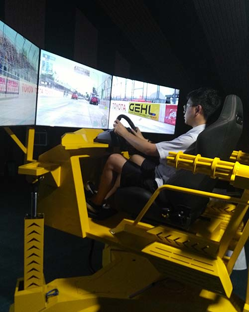 Fuhua screen vr racing car dynamic control technology for theme park-11