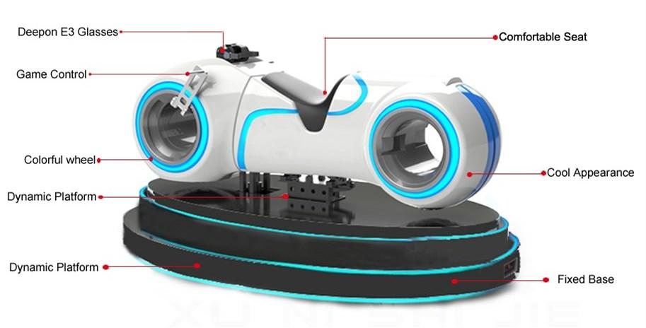 Fuhua fashionable racing vr dynamic control technology for theme park