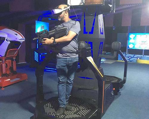 9d Virtual Reality Game Machine VR Treadmill PP Gun Shooting Platform-6