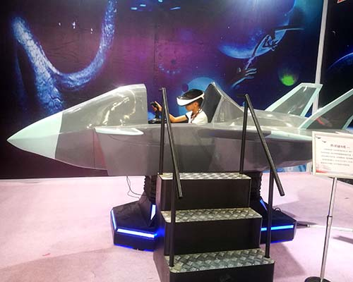 Interactive VR Flight Game Fighter Aircraft Fiberglass Warplane Cockpit-4