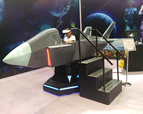 Interactive VR Flight Game Fighter Aircraft Fiberglass Warplane Cockpit-6