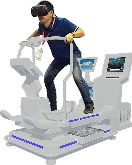 Attractive vr walker rowing for fitness game center
