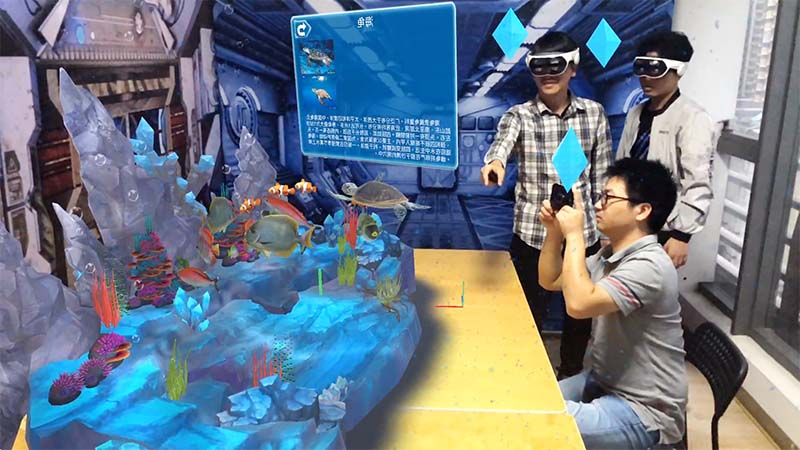 Wireless mixed reality games multiplayer Realistic Effect for tourist attractions-1