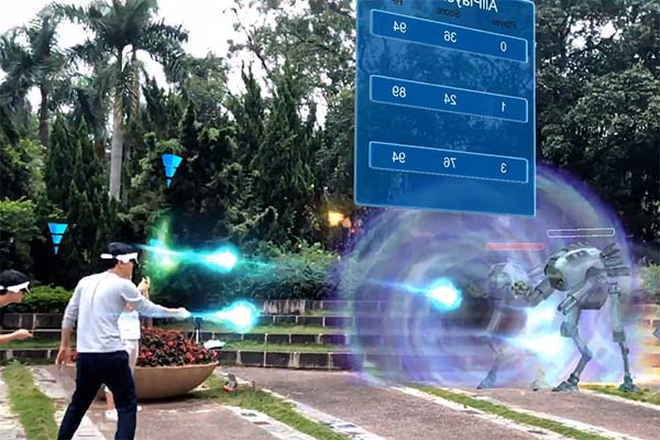 Wireless mixed reality games multiplayer Realistic Effect for tourist attractions-4