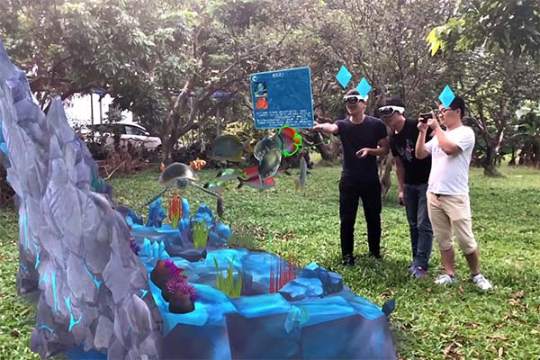 Wireless mixed reality games multiplayer Realistic Effect for tourist attractions-6