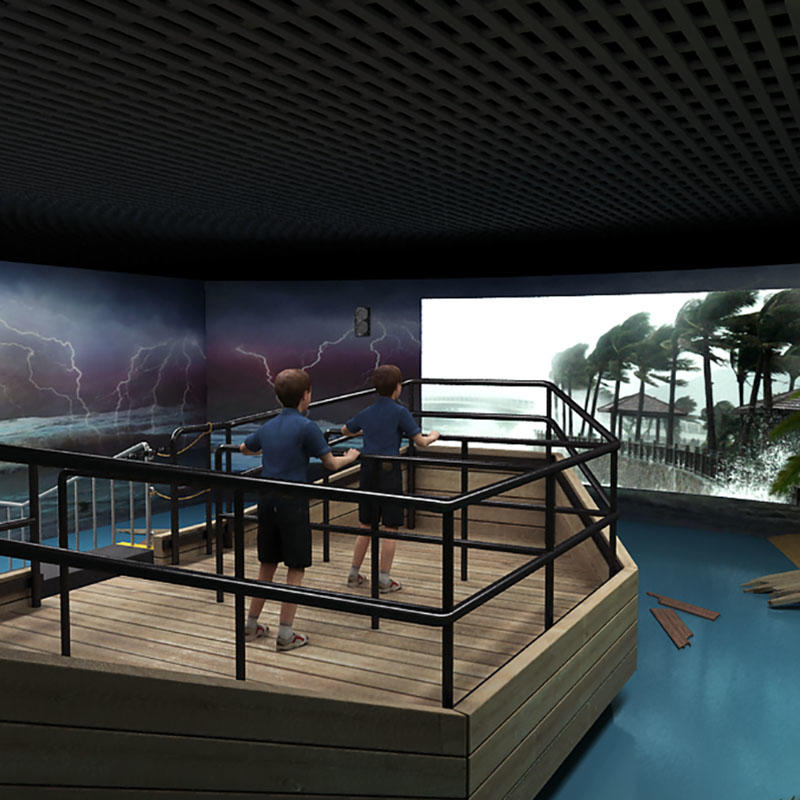 Fuhua Best Motion 3D Typhoon Experience Education Voyage Simulator