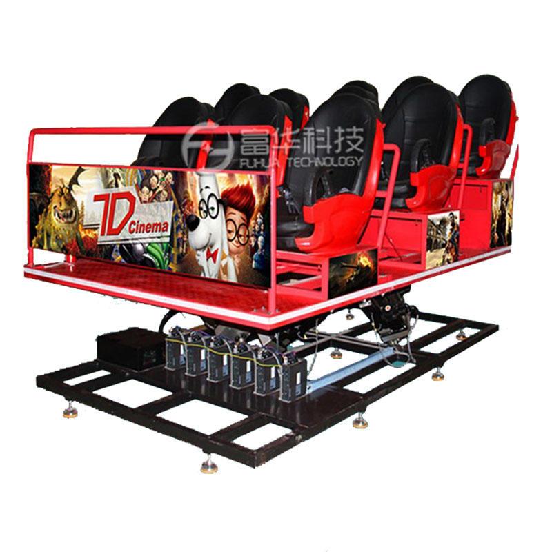 Fuhua Interactive 7D Cinema Theater 6 DOF Electric Motion Seat