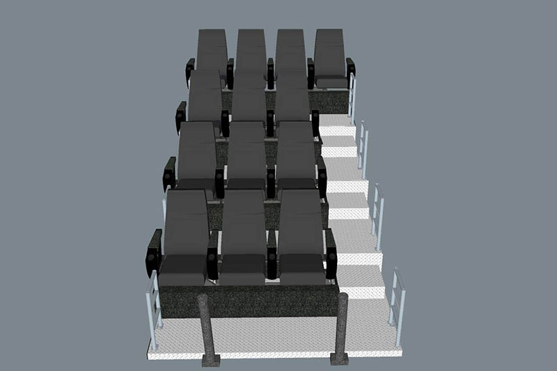 Fuhua equipment mobile theater dynamic seats for theme parks-5