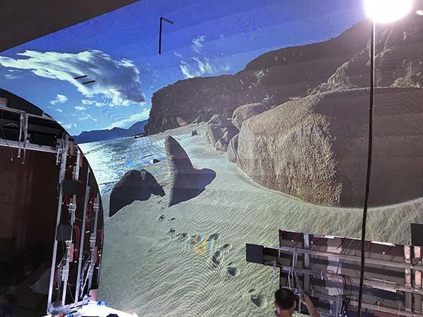 Fuhua Transparent curved projection screen for culture propaganda