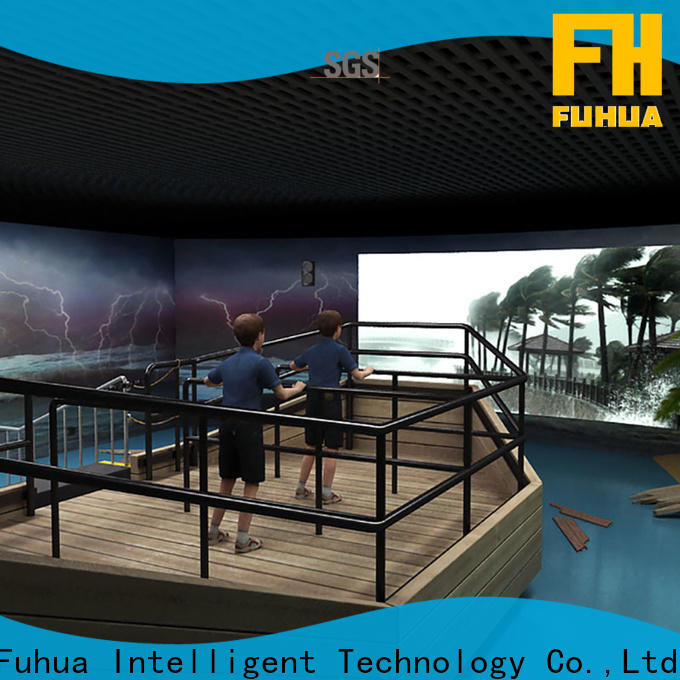 Fuhua motion typhoon simulator for Science Education for commercial amusement