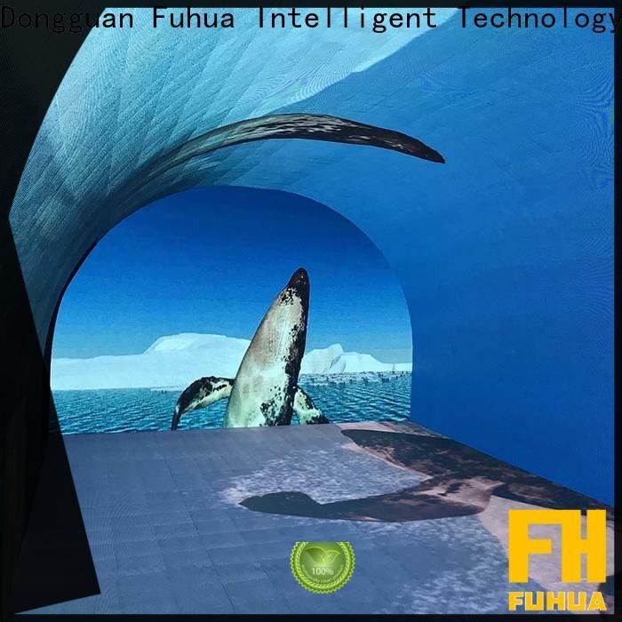Fuhua Transparent curved projection screen for culture propaganda