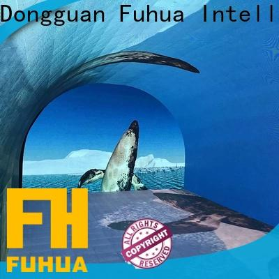 Fuhua floor curved projection screen for kids for clubs