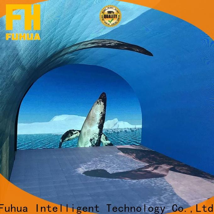 Transparent curved projection screen interactive for sale for tourist attractions