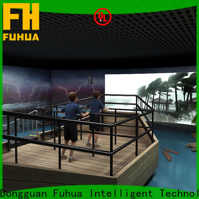 Fuhua high performance typhoon simulator manufacture for commercial amusement