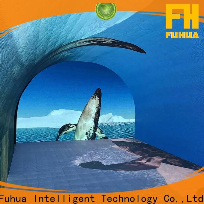 popular led wall screen floor manufacture for tourist attractions