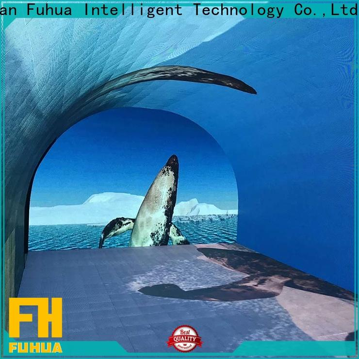Fuhua automatic curved projection screen for education for theme parks