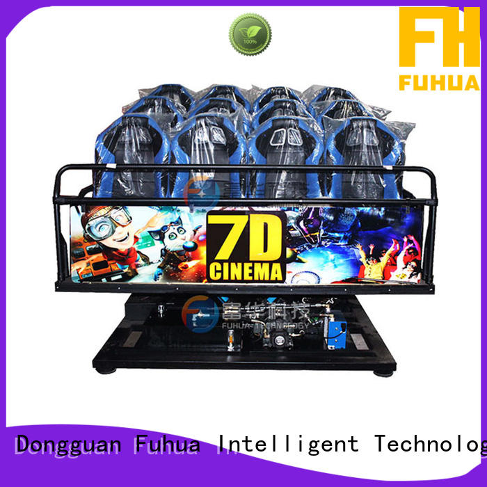 Multiplayer cinema 7d theater stereo and seat for theme parks