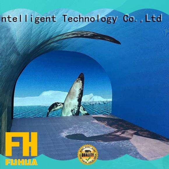 interactive curved projection screen for education Commercial amusement Fuhua