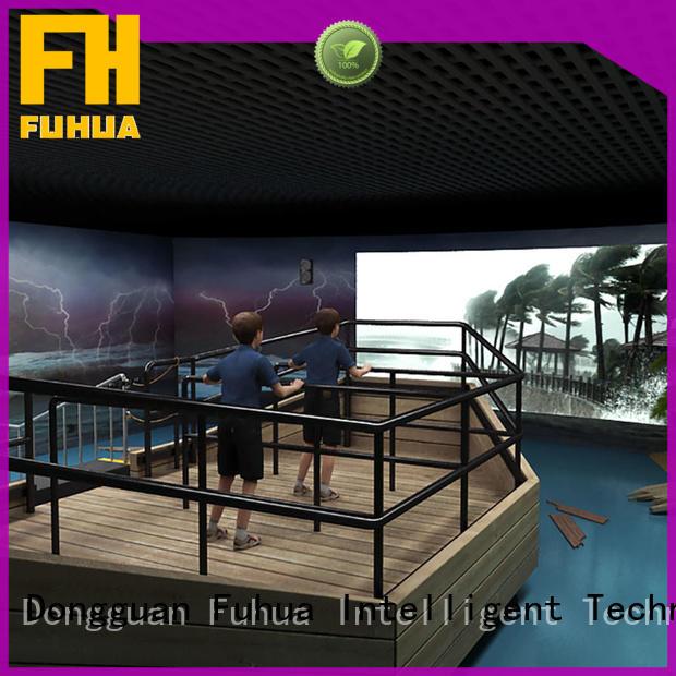 education experience fuhua Fuhua Brand hurricane simulator machine factory