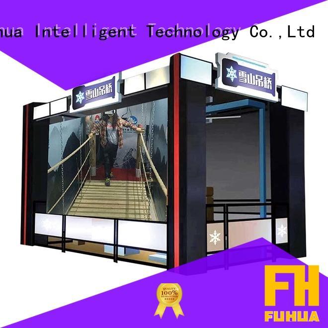 Interactive virtual reality bridge mountain Special design for shopping malls