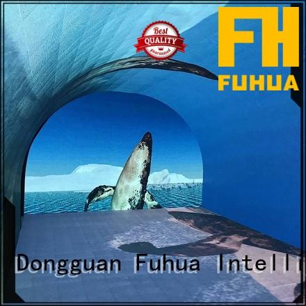 Fuhua popular interactive led wall for tourist attractions