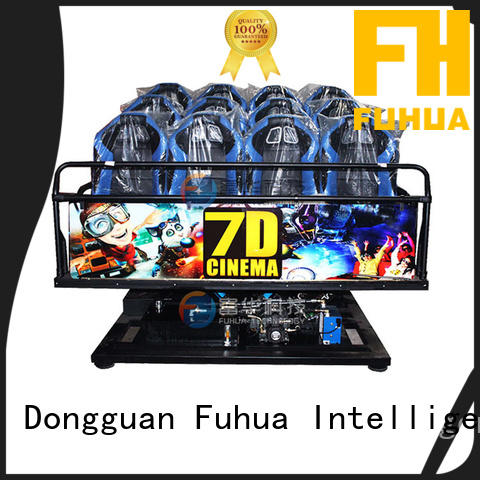 Fuhua dof cinema 7d stereo and seat for aquariums