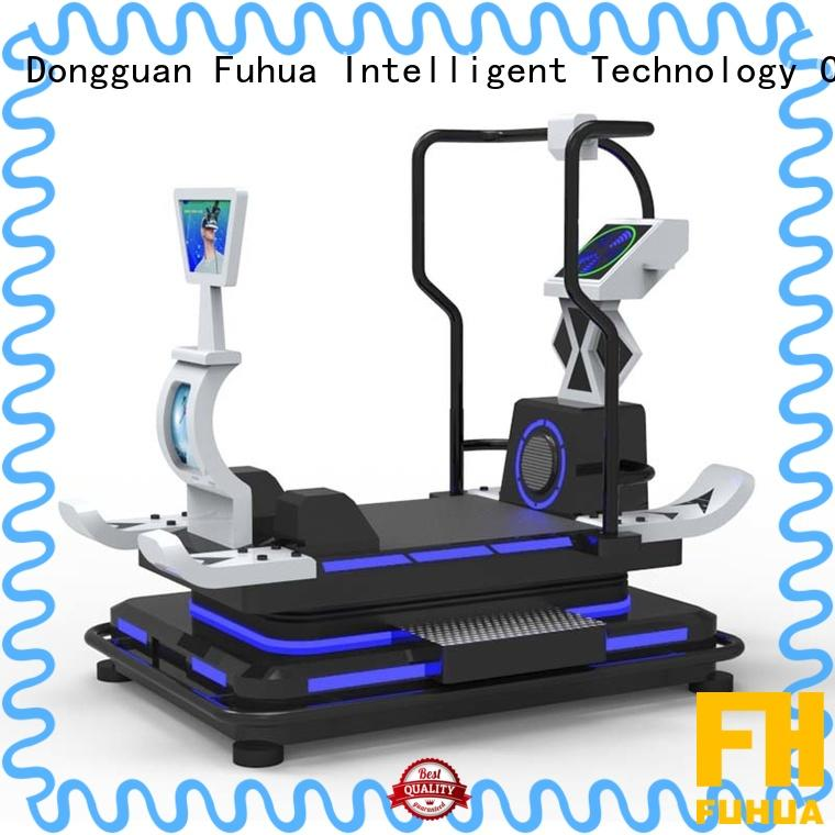 Fuhua skiing vr treadmill dynamic control for fitness game center