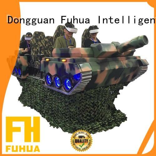 9D VR Six Seats 6 DOF Virtual Reality Tank Simulator For Game Center