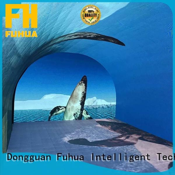 Fuhua transparent led wall screen for education for theme parks