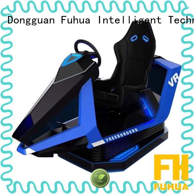 Attractive racing car simulator center engines for amusement