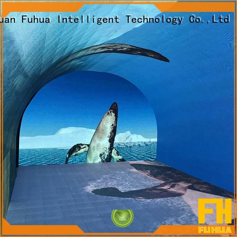 interactive 180 degree curved projection screen led for museum Fuhua