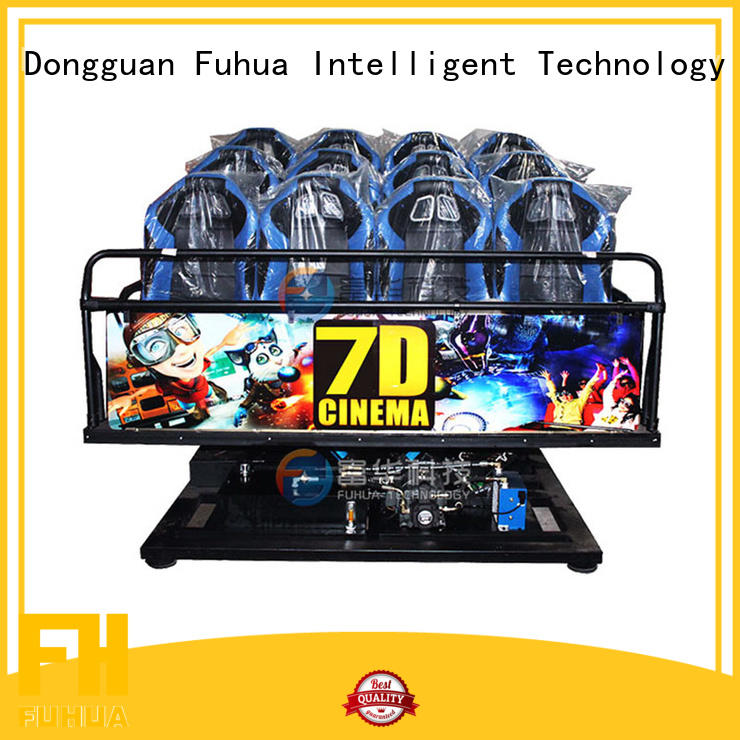Wireless 7d cinema dof audio system for shopping malls