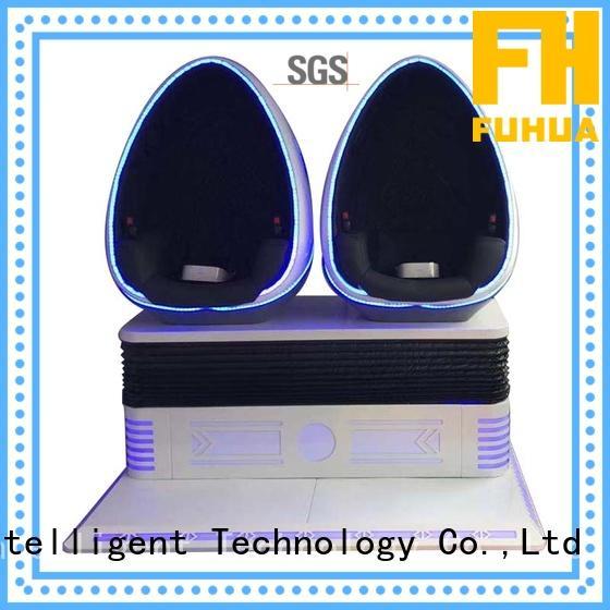 Amusement VR Theme Park 9D Virtual Egg Cinema Simulator For Sale