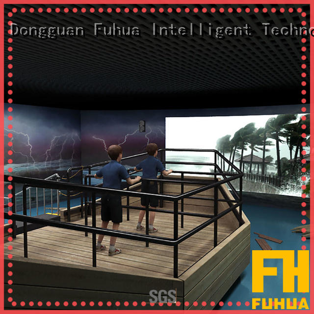 Fuhua motion typhoon simulator for sale for scenic area