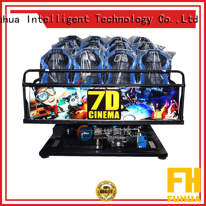 Fuhua high performance 7d simulator cinema stereo and seat for theme parks