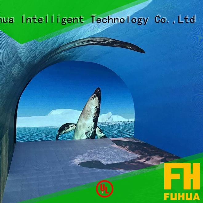 tunnel curved projection screen time for museum Fuhua